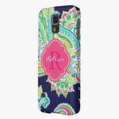 It's cute! This Colorful Bohemian Paisley Custom Monogram Galaxy S5 Cover is completely customizable and ready to be personalized or purchased as is. Click and check it out!