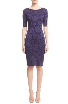 St. John Collection 'Zilia' Floral Jacquard Knit Sheath Dress available at #Nordstrom