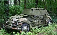 VW rocks beetle #Beetle, #Rock, #Sculpture