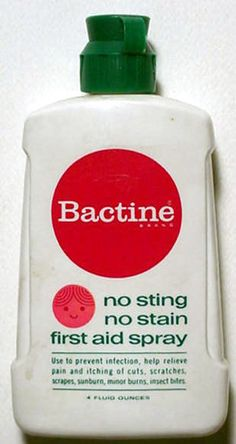Psst Goes the Bactine! Psst Goes the Bactine! DOWN go the mean old germs! I can recall the smell of this just thinking about it! Before Bactine there was Macuracrome! It was horrible and stung more than the cut or scrap. My Childhood Memories, Great Memories, Childhood Toys, 1970s Childhood, Cherished Memories, Tennessee Williams, Before I Forget, This Is Your Life, My Generation