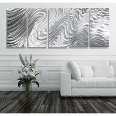 Statements2000 Extra Large 5 Panel Metal Wall Art Sculpture by Jon Allen - Hypnotic Sands 5P XL