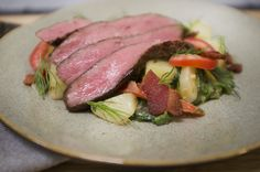 Sous vide flank steak and warm potato salad recipe #EatTender #Nomiku
