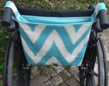 Totally Turquoise Wheelchair Bag, Wheelchair Tote