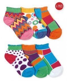 Jefferies Socks Girls Mod Low Cut Socks 6 Pair Pack