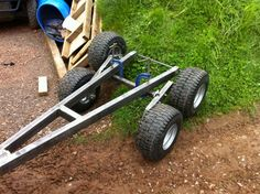 After a year or so of research, I've finally started my atv trailer build. Tandem walking axles, possibly multi-body, tipping trailer. Five feet. Lawn Trailer, Quad Trailer, Trailer Diy, Trailer Plans, Trailer Build, Atv Dump Trailer, Trailer Hitch, Utv Trailers, Trailer Axles