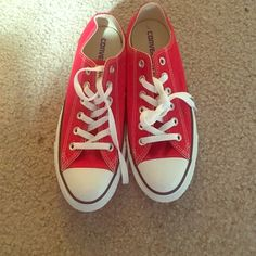 Red converse all star M7/ W9 Brand new, never worn converse (retail for $50) Converse Shoes Sneakers