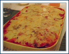 Macarrão especial de forno no dia 02/01/2013 20 Min, Lasagna, Macaroni And Cheese, Pizza, Breakfast, Ethnic Recipes, Spices, Spaghetti Noodles, Shredded Potatoes