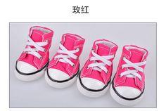 Barato 4 pçs/set sapatos do cão, Organizador de sapatos para 5 tamanho, Compro Qualidade Sapatos para Cachorros diretamente de fornecedores da China:     Hot vendas 4 pçs/set cão shoes, pet, arrumado Pet sapatos de lona 5 Tamanho disponível frete grátis         Ci
