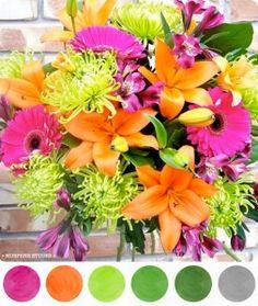 Pink Orange + Green Wedding Ideas \ • MospensStudio.com •