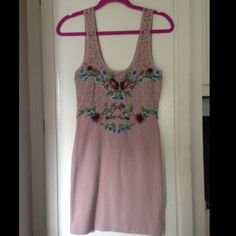 Sale free people dress Worn once, Free People lilac/lavender lacy dress with bead detailing, size xs Free People Dresses