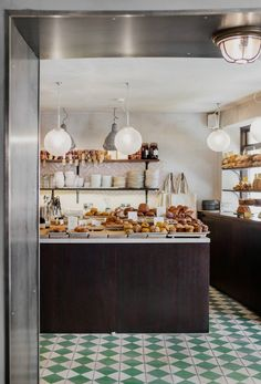 Love for the unexpected forms a starting point in our design work, studio ethos and adventures in travel. Small Space Living, Small Spaces, Bert And May Tiles, Bakery London, Bakery Store, Bakery Kitchen, Best Bakery, Bakery Design, Kitchen Doors