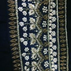 Use for mirror shirt Embroidery Suits Punjabi, Zardozi Embroidery, Embroidery Suits Design, Border Embroidery, Bead Embroidery Patterns, Tambour Embroidery, Hand Work Embroidery, Couture Embroidery, Indian Embroidery