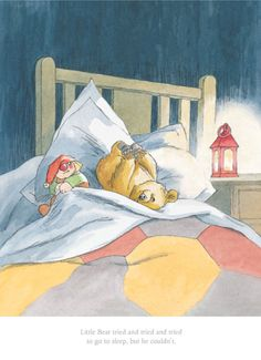 "Favorite. ""Little Bear tried and tried and tried"" but couldn't fall asleep. Artist: Barbara Firth"