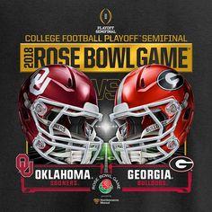 2018 Rose Bowl Game Oklahoma vs Georgia Semi Final Magnet 3 x 3 #affiliate
