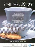 AT & T - International Phone Calls 1984 Ad Picture