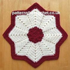 Free crochet pattern star table centre usa