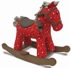 Cheval à bascule rouge Doodle et Crumble