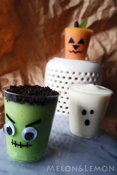 Halloween: living pudding   Halloween: budini viventi