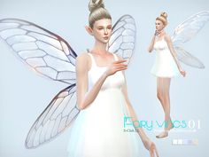 Fairy wings 01 by S-Club LL at TSR • Sims 4 Updates