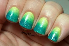 Amber did it!: MSMD: Peace, Love, & Polish Neon Gradient & Palm Trees
