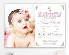 Bautizo Invitations Invitacion Bautizo En Espaol Bautizo Chica inside sizing 1500 X 1117 Baptism Invitations In Spanish Template - On a number of those Baptism Invitations Girl, Photo Invitations, Invitation Design, Wedding Invitations, Invitation Ideas, Invite, Birthday Invitations, Baptism Photos, Baptism Ideas