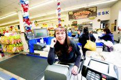 Rita García at Super Save, Monday (April 28). Photo by Tina Larkin