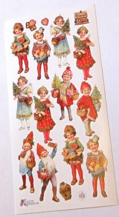 Wonderful new Victorian Violette Christmas nomes by TheWisdomTree