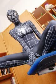 """Out of all of the """"Spiderman"""" costumes we've seen so far, the best one isn't even from a man. Behold, Spiderwoman - sailing over a cubicle at an. Costume Spider-man, Cosplay Costumes, Halloween Costumes, Halloween Makeup, Pretty Halloween, Costume Ideas, Venom Costume, Alice Costume, Halloween 2015"""