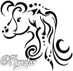 Mare tattoo design || ©2017 Phenglar - CC BY-NC-ND 4.0 Fantasy Art, Tattoo Designs, Vintage, Tattoos, Nature, Etsy, Random Tattoos, Design Tattoos, Handmade Gifts