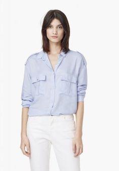 Mango CAMI - Hemdbluse - light blue für 29,99 € (10.11.15) versandkostenfrei bei Zalando bestellen.