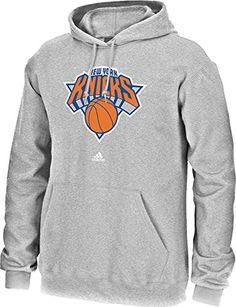 NBA New York Knicks Men's Full Primary Logo Fleece Hoodie, Large, Grey