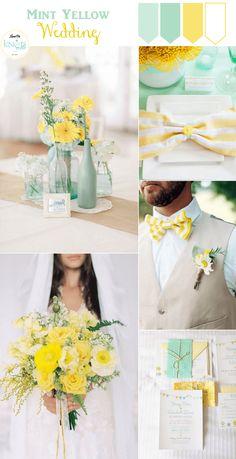 Mint and Yellow Wedding Inspiration » KnotsVilla