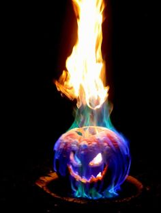 Flamethrower Jack o Lantern - easy and oh-so-cool