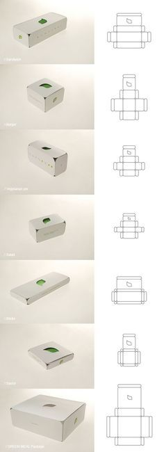 Box template LEAF / Vegetarian fast food / Green meal package by Stefan Knežević, via Behance Packaging Dielines, Tea Packaging, Food Packaging Design, Paper Packaging, Food Box Packaging, Origami Simple, Restaurant Concept, Chocolate Packaging, Packing Boxes
