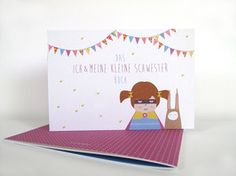 "Notebooks - Papeterie.  Memory book ""Me and my little sister"" (size DIN A5). A beautiful little book for common memories, pictures, foot prints and drawings. 8,95 € incl. VAT plus shipping costs."