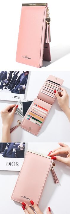 US$11.87 Only.14 Card Slots Card Holder Phone Bags Elegant Wallet Purse