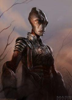 Mass Effect Medieval Salarian - by David Rapoza