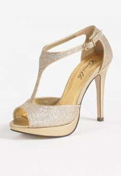 High Heel Platform Glitter Instep Strap Sandal from Camille La Vie and Group USA