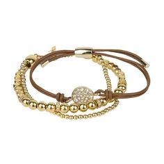 Golden bracelet from Fossil #DesignerOutletParndorf