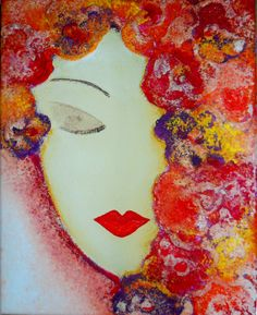 Dreaming Woman by Ruaa Al Bazirgan Because I know you/ I see roses at each corner and feel the love of every lover. Creative Zen, Face Art, Art Faces, My Secret Garden, Art For Art Sake, Portrait Art, Art World, Pretty Pictures, Painting Inspiration