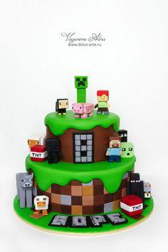 Minecraft cake - Cake by Alina Vaganova - CakesDecor