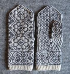 Ravelry: wmageroy's Maivotter Annes Blomst I will learn to knit these! Knitted Mittens Pattern, Fair Isle Knitting Patterns, Knit Mittens, Knitted Gloves, Knitting Stitches, Hand Knitting, Crochet Patterns, Norwegian Knitting, Wrist Warmers