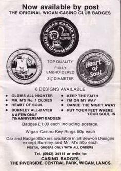 Wigan Casino badge set