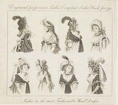 Museum of London   Ladies' Head dresses of 1795