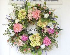 Spring Wreath-Hydrangea Wreath-Spring Wreath for by ReginasGarden