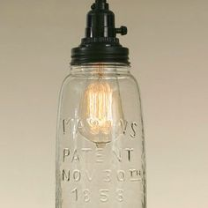 930056_half gallon mason jar clear pendant lamp open bottom 002