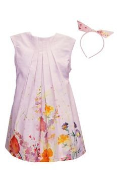 Isabel Garreton Floral Dress & Headband Set (Toddler Girls, Little Girls & Big Girls) | Nordstrom