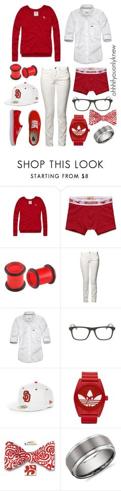 """Happy Valentine's Day (:"" by ohhhifyouonlyknew ❤ liked on Polyvore featuring Abercrombie & Fitch, Hollister Co., Vans, Adax, Tommy Hilfiger, Dita, adidas Originals, Blue Nile, lgbt and tomboy"