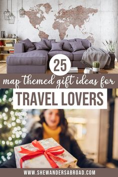 A complete list about the best world map gift ideas for travelers. These map themed gifts will be a perfect Christmas present for any travel lover in your life! | Travel gift ideas | Best travel gifts | Christmas gift for travelers | Travel gifts for friends | Travel gifts for women | Travel gifts for men | Travel gift guide | Best gifts for travelers | Christmas gift ideas for travel lovers | Unique gifts for travelers | Christmas present for travelers | Holiday gift guide for travelers