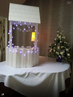 https://www.facebook.com/pages/TLC-Candy-Cart-Hire/1567572446801237 Available to hire wedding wishing well post box for wedding cards secure white wooden  Large 4ft by 2ft
